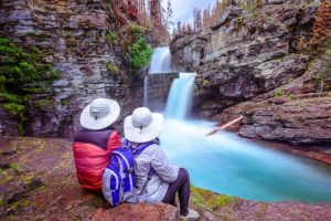 Saint Mary Falls is one of two splendid waterfalls upriver of Saint Mary Lake.